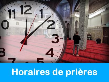 Horaires de prières